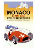 Grand Prix de Monaco, 1956 Reproduction procédé giclée par J. Ramel