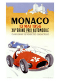 Monaco Grand Prix, 1956 Gicleetryck av J. Ramel