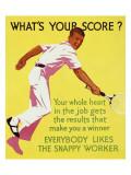 What's Your Score Digitálně vytištěná reprodukce