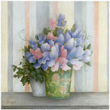 Pot Fleurs Bleues Posters by Vincent Perriol