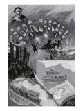 "Jules Verne, ""César Cascabel"", Frontispiece Giclée-Druck von Jules Verne"