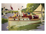 The Broads, LNER/LMS, 1937 Giclee Print by Arthur C Michael