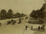Paris, View of the Avenue Du Bois De Boulogne Photographic Print by Brothers Neurdein