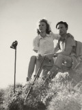 "A Couple of Hikers in the ""60S Photographic Print"