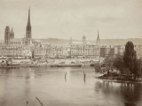 View of Rouen and the Seine River, France Photographic Print