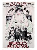 Scala to Bruxelles Giclée-Druck von Jean-Dominque Van Caulaert