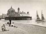 Seaside at Nice, French Riviera Fotografie-Druck