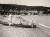Holidays at the Lavandou, French Riviera Fotografie-Druck