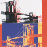 Brooklyn Bridge, c.1983 (black bridge/white background) Arte por Andy Warhol
