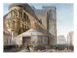 Book of the Coronation by Percier and Fontaine: The Emperor Arriving at Notre-Dame Giclee Print by  Percier and Fontaine