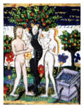 Manuscript of the Hours of Rohan-Montauban, Scene from Genesis: Adam and Eve Biting the Apple Giclee Print