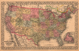 Map of the United States, c.1867 Affiches