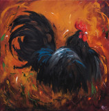 Rooster, no. 501 Print by  Roz