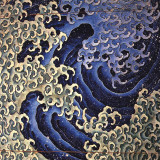 Masculine Wave (detail) Posters van Katsushika Hokusai
