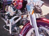 Purple Harley Kunst av Tom Blackwell