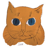 25 Cats Named Sam and One Blue Pussy by Andy Warhol, c.1954 (Gold Sam) Posters par Andy Warhol