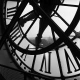 Orologio del museo Orsay Poster di Tom Artin