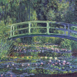 Water Lily Pond, c.1899 (blue) Poster av Claude Monet