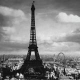 The Eiffel Tower, Paris France, c.1897 Plakat autor Tavin