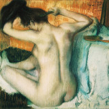 Woman Combing her Hair Poster by Edgard Degas