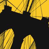 Brooklyn Bridge (yellow) Poster autor Erin Clark