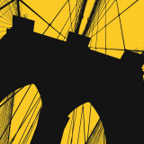 Brooklyn Bridge (yellow) Poster por Erin Clark