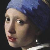 Jan Vermeer - Girl with a Pearl Earring (detail) Umělecké plakáty