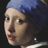 Girl with a Pearl Earring (detail) Print by Jan Vermeer