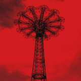 Red Parachute Jump Print by Erin Clark