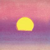 Pôr do sol, cerca de 1972 40/40, lavanda Posters por Andy Warhol