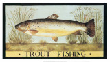 Trout Fishing Print by Dominique Perotin