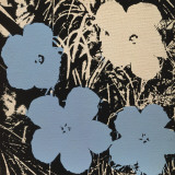 Flowers, c.1965 (3 blue, 1 ivory) Print by Andy Warhol