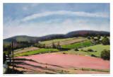 Pastel Landscape VII Posters by Jacques Clement