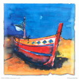 Boat from Algarve II Prints by Hans Oosterban