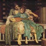 Music Lesson Poster von Frederick Leighton