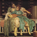 Music Lesson Planscher av Frederick Leighton
