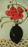 Swirling Poppies Poster by Karen Tusinski