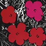 Flowers (Red and Pink), c.1964 Art by Andy Warhol