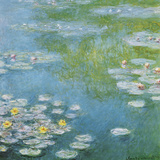 Nympheas at Giverny Affiches par Claude Monet