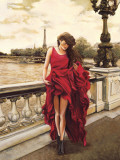 Woman in Paris Prints by Edoardo Rovere