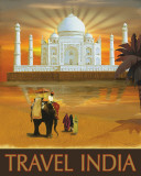 Travel India Print by Kem Mcnair