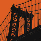 Orange Manhattan Affiches par Erin Clark