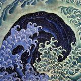 Katsushika Hokusai - Feminine Wave (detail) Plakát