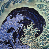 Feminine Wave (detail) Prints by Katsushika Hokusai