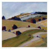 Pastel Landscape VII Kunst av Jacques Clement