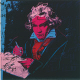 Beethoven, c.1987 (red face) Print by Andy Warhol