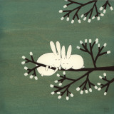 Conigli sull'albero di marshmallow Arte di Kristiana Pärn