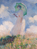 Woman with Parasol Prints by Claude Monet