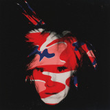 Self-Portrait, c.1986 (red, white and blue camo) Posters van Andy Warhol