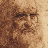 Self Portrait (detail) Print by Leonardo da Vinci 